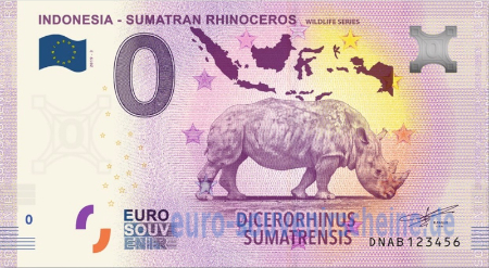 DNAB-2019-3 INDONESIA - SUMATRAN RHINOCEROS WILDLIFE SERIES