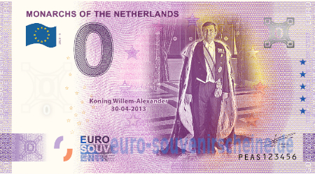 PEAS-2020-9 MONARCHS OF THE NETHERLANDS KONING WILLEM-ALEXANDER